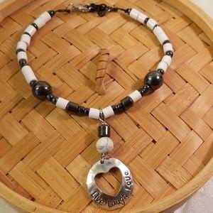 Jewelry - Bohemian style LIVE LAUGH  LOVE ankle bracelet